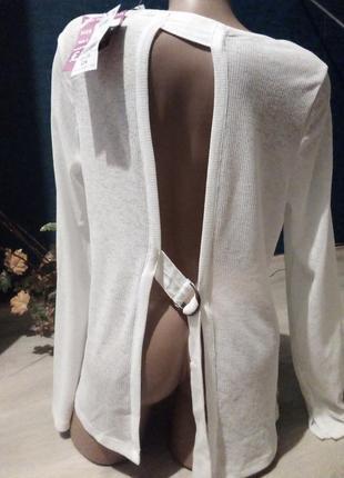 Брендовая блузка разрез на спине next