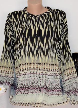Блуза с длинным рукавом nu numph denmark принт абстракция большой размер этикетка