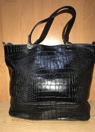 Большая кожаная сумка/италия