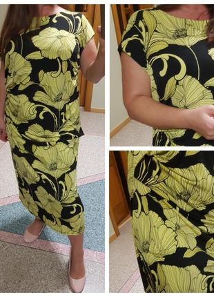 Элегантное платье большого размера debenhams с цветочным принтом
