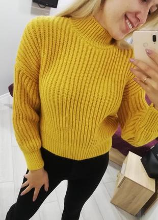 Свитер горчица, свитер оверсайз, свитер зима, свитер женский