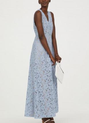 Шикарное кружевное платье h&m из свадебной коллекции