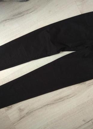 Штаны брюки коттоновые bershka размер 34 чёрные
