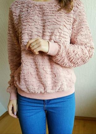 Теплый свитер свитшот