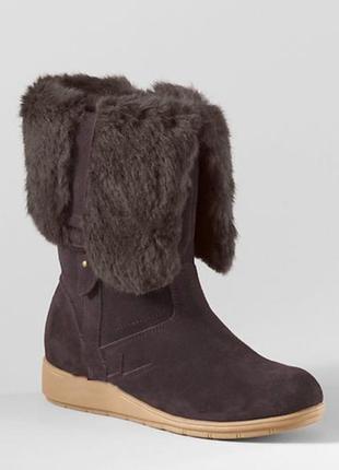 Зимние ботинки lands end, очччччень теплые, замш, водонепроницаемые
