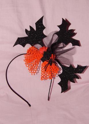 Обруч ободок с летучими мышами на хэллоуин