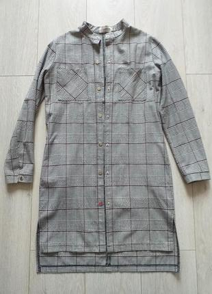 Платье-пиджак в модную клетку