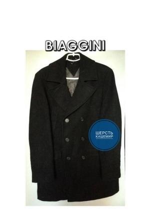 🔥скидка🔥biaggini charles vogel мужское шерстяное пальто черное классическое средней длины