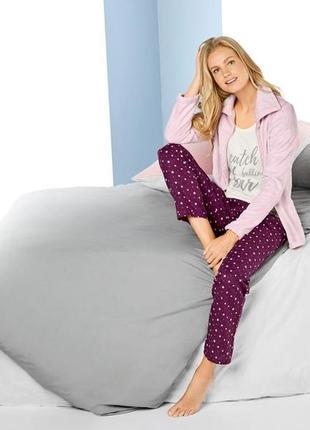 Пижама с курткой из нежного теплого плюша
