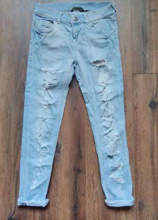 Рваные джинсы bershka denim