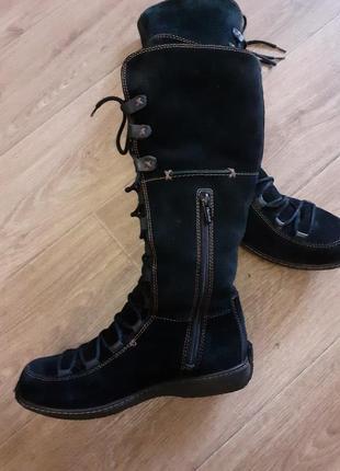Зимние кожаные сапоги на шнуровке timberland. оригинал.