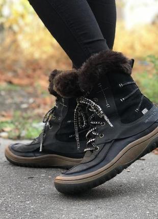 Сапоги merrell женские утеплитель 200gram зимние кожаные удобные