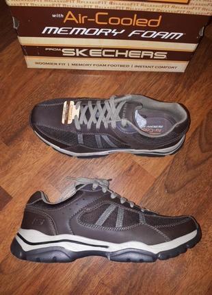 Кожанные кроссовки туфли skechers 10.5 44