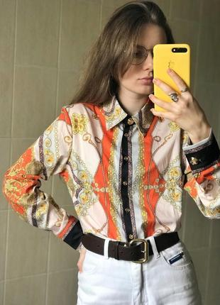 Рубашка в принт, под винтаж