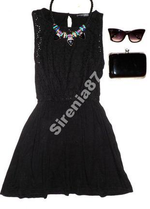 №95 стильное черное платье