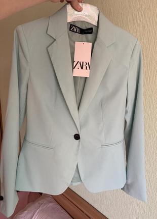 Новый мятный пиджак zara
