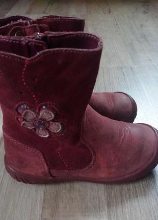 Clarks gore-tex деми сапоги ботинки кожаные на девочку 22,5р.