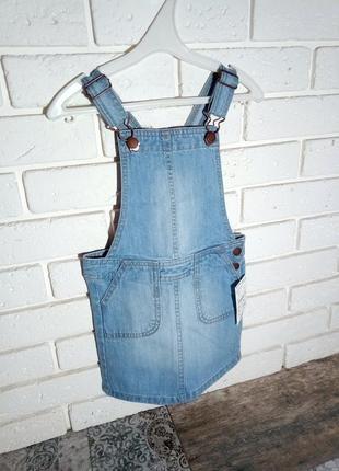 Kiabi стильнячий джинсовый сарафан 3 года 90-97 см