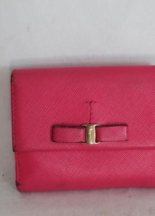 Оригинальный кожаный кошелек salvatore ferragamo 100% натуральная кожа