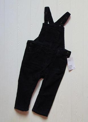 H&m. размер 9-12 месяцев. новый вельветовый комбинезон для маленького модника