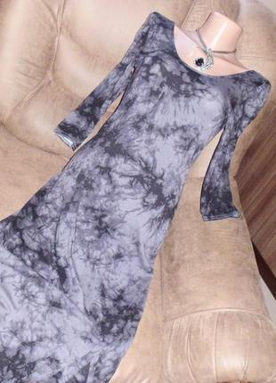 New look платье длинное рр 10 рр 12 трикотаж