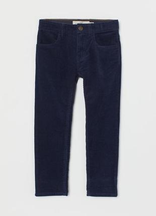 Демисезонные вельветовые брюки h&m 128 134 140