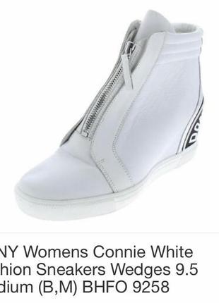 Ботинки кожаные демисезонные дорогой бренд dkny размер 41