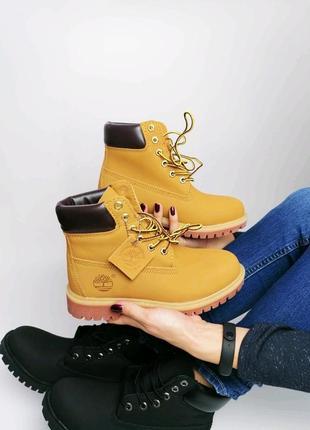 Коутые женские ботинки, тимберленды