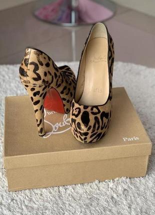 Туфли леопард,  лабутены оригинал!!!