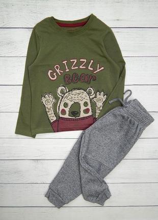 Стильный комплект, для мальчика 1,5-2 года. реглан и штаны теплые.