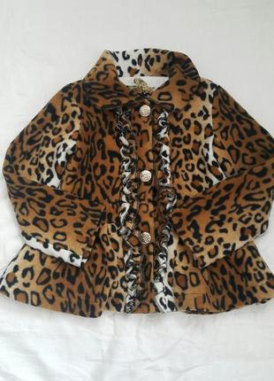 Леопардовое полупальто 5лет