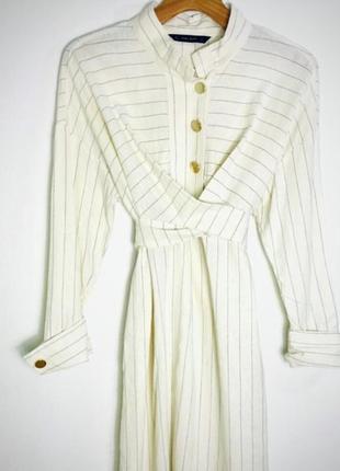 Красивое льняное платье- рубашка zara
