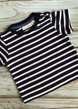 Качественная хлопковая полосатая футболка