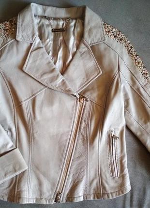 Стильна шкіряна куртка guarapo, косуха, кожанка