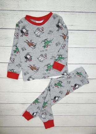 Костюм-пижама новогодняя от h&m, унисекс 12-18 мес.