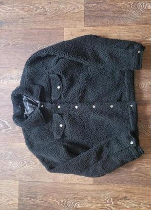 Трендовая стильная теплая куртка тедди шерпа asos