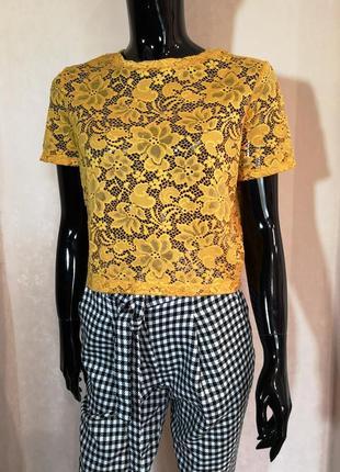 Красивая блуза топ гипюр от zara s