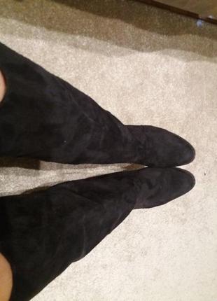 Черные сапоги под замш деми-39р
