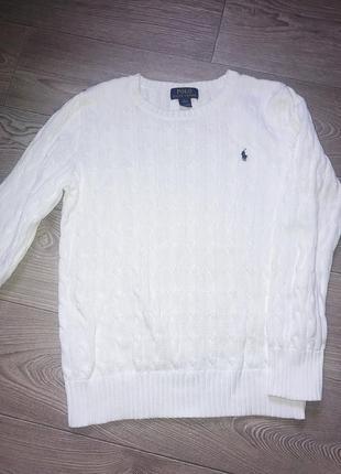 Котоновый свитер от ralph lauren