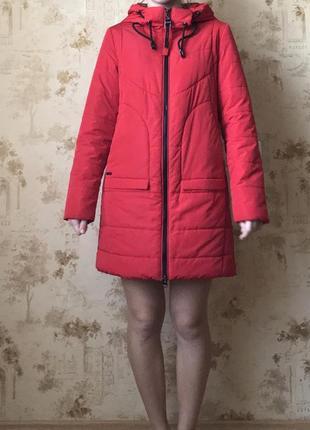 Куртка красная осенняя зимняя