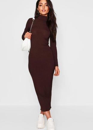 Стильное удлиненное платье boohoo
