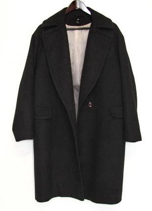Актуальное пальто, кокон, h&m, шерсть
