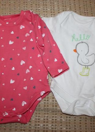 Боди новорожденной девочке 0-3 мес. от f&f, англия