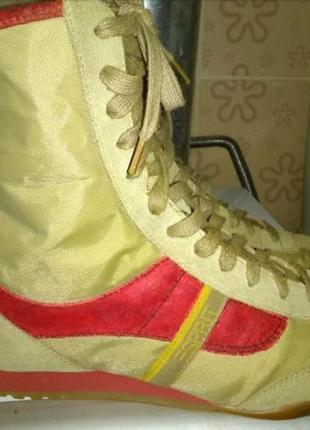 Берцы ботинки кроссовки кеды деми 38 р есприт замша плащевка новые