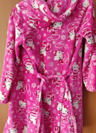 Тепленький флисовый халатик для девочки