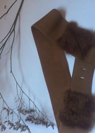 Ремень-резинка с натуральным мехом