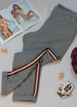Удобные повседневные брюки/штаны с лампасами