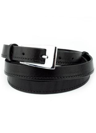 Женский кожаный ремень kb-20-01 black (2 см)