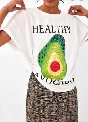 Авокадо футболка zara