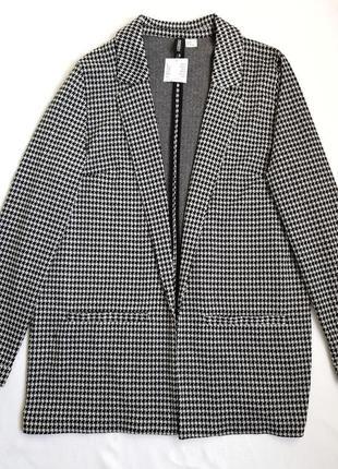 Пиджак черно-белый h&m